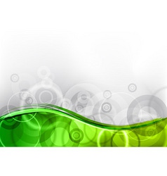 green wave vector image vector image