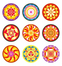 Indian floral patterns vector