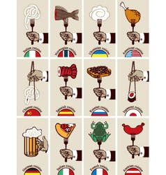 International cuisine vector image vector image