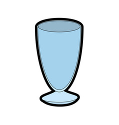 Isolated glass cup vector