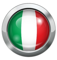 Italy flag metal button vector image vector image