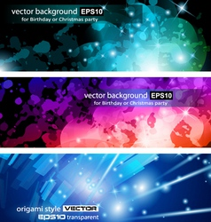 Lights cards vector