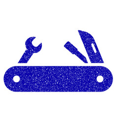 multi-tools knife icon grunge watermark vector image