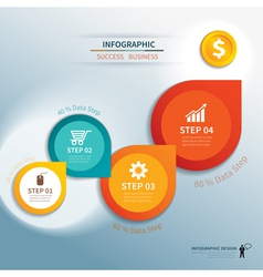 paper step infographic vector image vector image