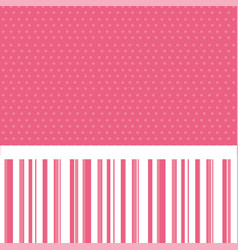 Pink decorative frame with pattern dotted and vector