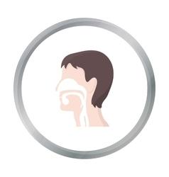 Respiratory system icon cartoon single medicine vector