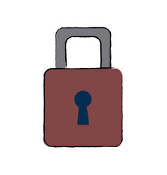 Security protection padlock keyhole close symbol vector
