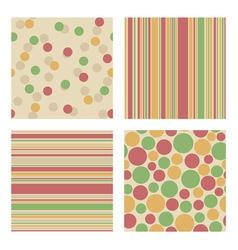 Set of bright retro patterns vector image vector image
