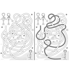Summer maze vector image vector image
