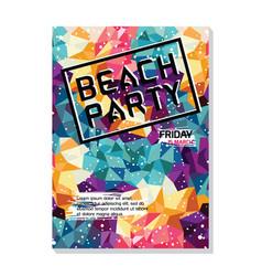 Summer night beach party poster flyer template vector
