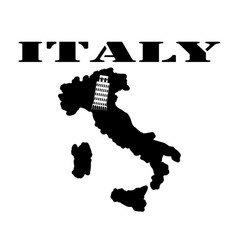Symbol of italy and maps vector