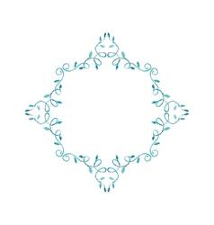 Watercolor geometric frame vector image