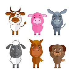 Wild and domestic animal icons set vector image vector image
