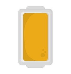 Butter on plate topview icon vector