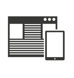 tablet technology isolated silhouette icon vector image