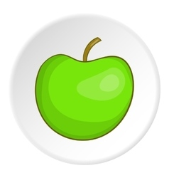 Apple icon cartoon style vector