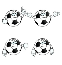 Bored cartoon football set vector