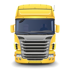 Yellow european truck vector