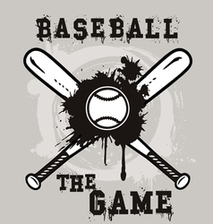 baseball the game vector image