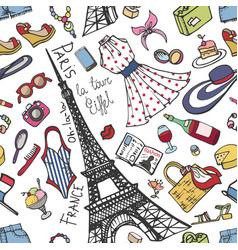 Paris france fashion seamless patternsummer vector