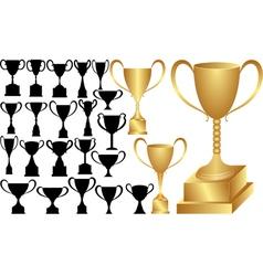 Victory cup vector