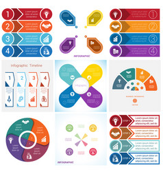 Collections infographics elements template 4 vector