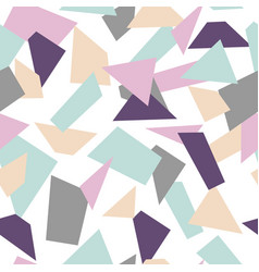 Delicate seamless mosaic pattern mosaic shapes vector