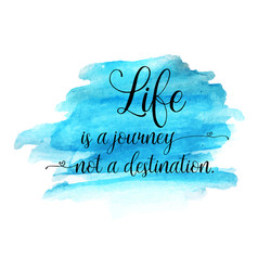 Modern life quote on a watercolor background vector