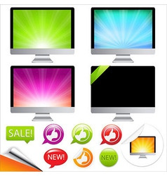 Monitor icons vector