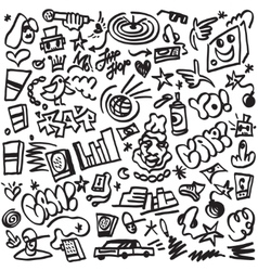 Rap doodles vector