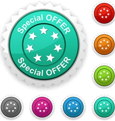 Special offer award vector