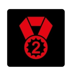 Second place icon from award buttons overcolor set vector