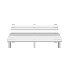 Single white modern bench vector
