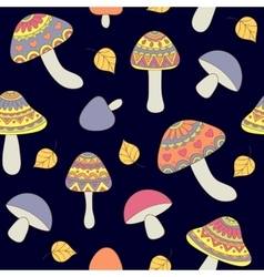 Seamless pattern with abstract mushrooms vector