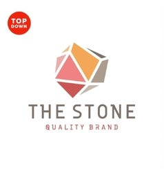 Flat design stone color minimalism quality brand vector