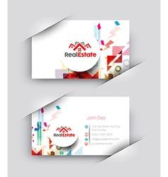 Real estate business card set vector