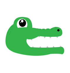 avatar of crocodile vector image