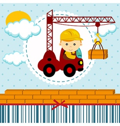 Baby boy builder vector
