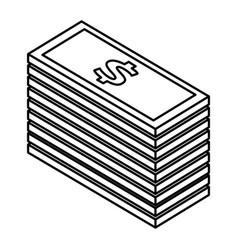 Bill dollar isometric icon vector