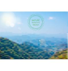 Blurred of nature background landscape vector