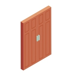 Brown door icon cartoon style vector image