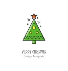 Christmas elegant spruce vector