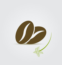 Coffee beans icon vector