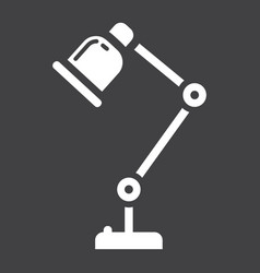 Desk lamp solid icon table lamp and appliance vector