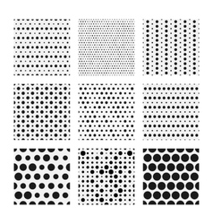 Dotted texture collection seamless vector image