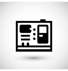 Electric generator icon vector image vector image