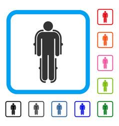 Exoskeleton framed icon vector