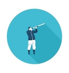 flat icon hunter vector image