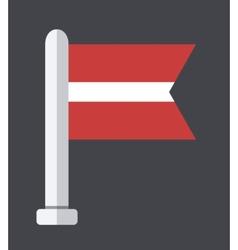 flat modern flag on sample background vector image vector image