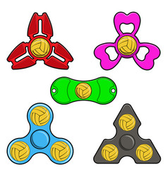 hand spinner toys with water polo ball flat vector image vector image